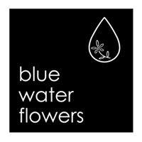 blue water flowers
