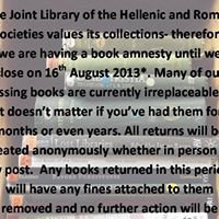 Joint Library of the Hellenic & Roman Societies / ICS Library