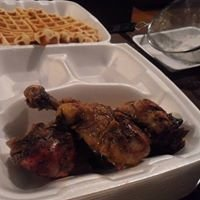 The Original Bahamian Jerk Chicken and Waffles