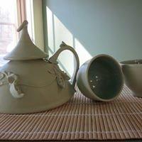 Frog moon pottery