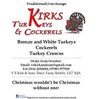 Kirks Turkeys and Cockerels