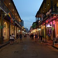 Bourbon Street in the Quarter