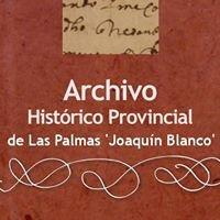 Archivo Histórico Provincial de Las Palmas 'Joaquín Blanco'