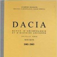 Dacia. Revue d'archéologie et d'histoire ancienne