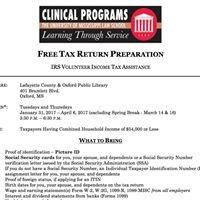 UM Pro Bono Tax Assistance Project