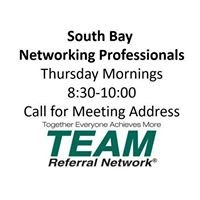 Team Referral Network-South Bay Networking Professionals