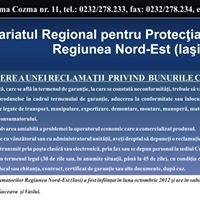 Comisariatul Regional pt Protectia Consumatorilor Reg. NE - Iasi