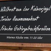 Alpengasthaus Fischbachalm Naturschutzgebiet Kaiserbachtal Kirchdorf/Tirol
