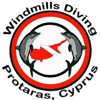 Windmills.  Protaras Diving Centre
