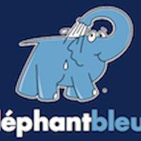 Eléphant bleu Fruges