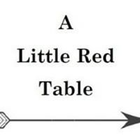 A little red table