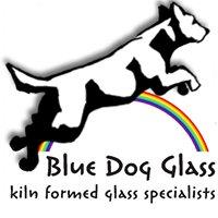 Blue Dog Glass