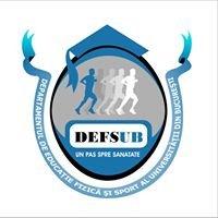 DEFS UB (Departamentul de Educatie Fizica si Sport -Universitatea Bucuresti