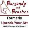 Burgundy and Brushes