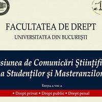 Sesiunea de Comunicări Științifice a Facultății de Drept