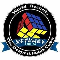 Najgłębiej ułożona kostka rubika / The deepest solved underwater Rubik cube