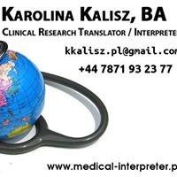 Karolina Kalisz Tłumacz Medyczny/ Medical Translator and Interpreter