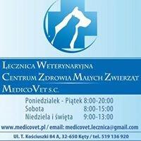 """Lecznica Weterynaryjna Centrum Zdrowia Małych Zwierząt """"MedicoVet"""" s.c."""