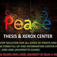 Peace Thesis & Xerox Center