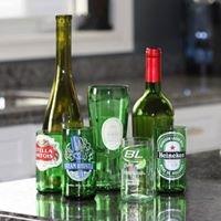 Eco-TIENDA vasos de botellas cortadas a mano.