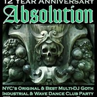 ABSOLUTION NYC's Original Multi-DJ Gothic Industrial Event