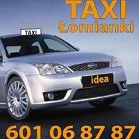 Idea TAXI Łomianki 601 06 87 87 osobowe i dostawcze