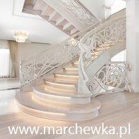 Marchewka - schody podłogi wnętrza