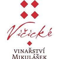 Vičické vinařství Mikulášek