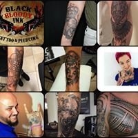 Black Bloody Ink Tattoos