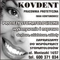 KOVDENT.Wykonywanie i naprawa protez stomatologicznych