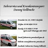 Fahrservice Prenzlau Danny Vollbrecht 24h erreichbar