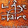L'Age de Faire, Stages de poterie, stages raku et grès dans le Gard.