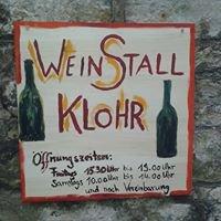 Weinstall Klohr