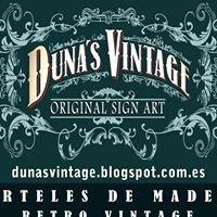 Dunas Vintage. Carteles de Madera Retro Vintage.