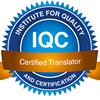 IQC-Certification for translators