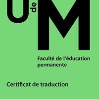 Certificats de traduction I et II - UdeM