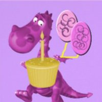 Purple Dragon Cupcakes